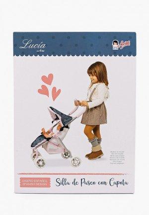 Коляска Arias для кукол, вращающиеся колеса, ручка 62 см, 29х53х60 см.. Цвет: разноцветный