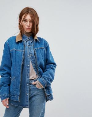 Джинсовая куртка с вельветовым воротником Stranger Things-Синий Wrangler