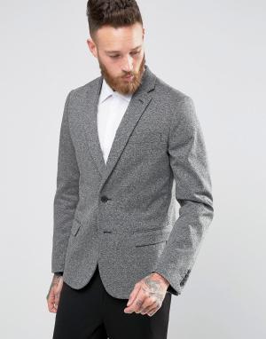 Серый трикотажный блейзер New Look. Цвет: серый