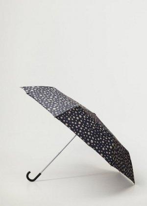 Складной зонт в горошек - Ibiza Mango. Цвет: черный