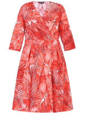 Платье хлопковое с принтом S.FERRAGAMO