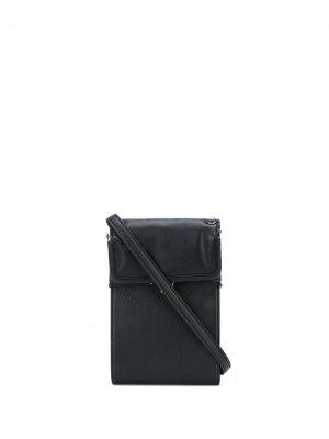 Кошелек с ремнем на плечо Discord Yohji Yamamoto. Цвет: черный
