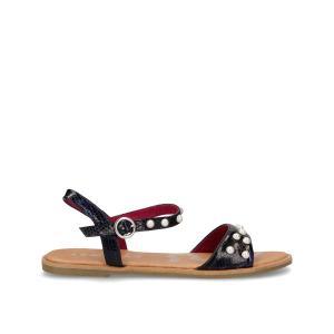 Босоножки на плоском каблуке Pearl COOLWAY. Цвет: черный