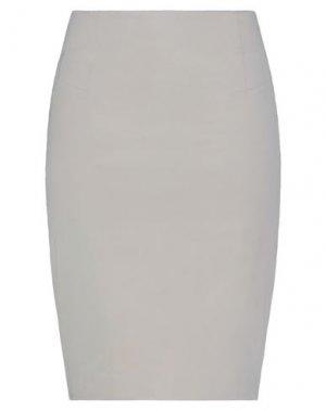 Юбка до колена CAPPELLINI by PESERICO. Цвет: светло-серый