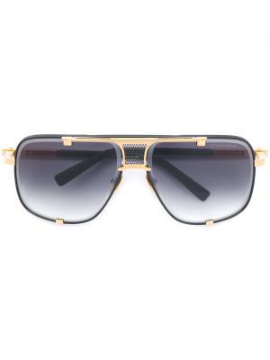 Солнцезащитные очки авиаторы Dita Eyewear. Цвет: черный