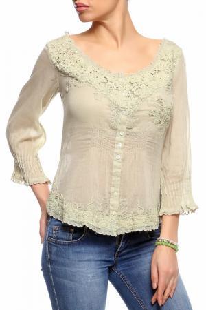 Блуза GADO. Цвет: зеленый