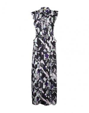 Платье длиной 3/4 ANTONINO VALENTI. Цвет: темно-синий