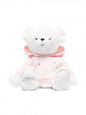 Мягкая игрушка медведь с вышитым логотипом Givenchy Kids. Цвет: розовый