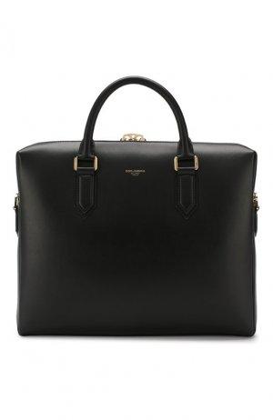 Кожаный портфель Monreale Dolce & Gabbana. Цвет: чёрный
