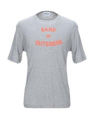 Футболка BAND OF OUTSIDERS. Цвет: светло-серый