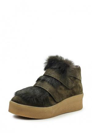 Ботинки Benta. Цвет: зеленый
