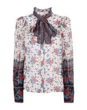 Pубашка ULLA JOHNSON. Цвет: светло-розовый