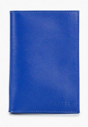 Обложка для паспорта Qoper. Цвет: синий