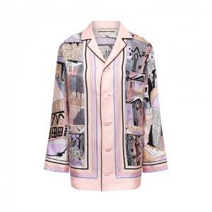 Шелковая рубашка Emilio Pucci. Цвет: розовый