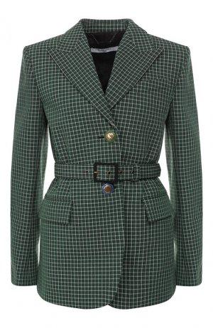Шерстяной жакет Givenchy. Цвет: зеленый