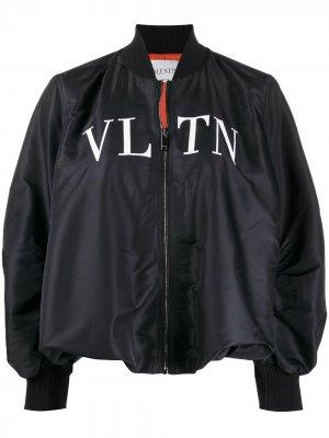 Бомбер с логотипом VLTN Valentino. Цвет: черный