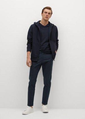 Укороченные брюки-чинос tapered - Prato Mango. Цвет: глубокий темно-синий