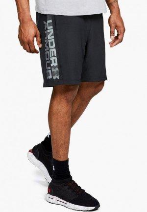 Шорты спортивные Under Armour UA Woven Wordmark Shorts. Цвет: черный