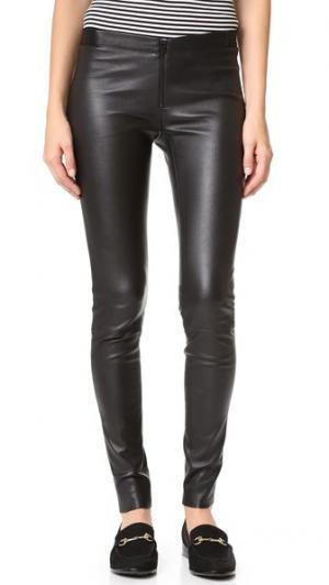 Zip Front Leather Leggings alice + olivia