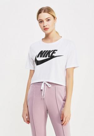 Футболка Nike Sportswear Essential Womens Short-Sleeve Cropped Top. Цвет: белый