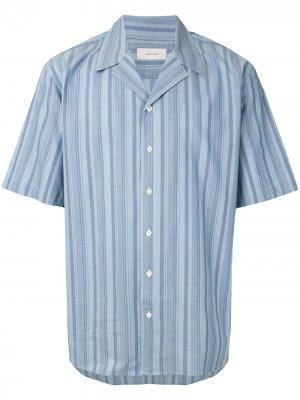 Полосатая рубашка с короткими рукавами Cerruti 1881. Цвет: синий
