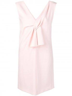 Короткое платье с V-образной горловиной LANVIN. Цвет: розовый