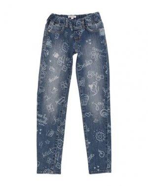 Джинсовые брюки DENNY ROSE YOUNG GIRL. Цвет: синий
