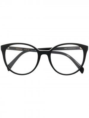 Очки в круглой оправе Celine Eyewear. Цвет: черный