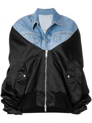 Джинсовая куртка-бомбер Unravel Project. Цвет: синий