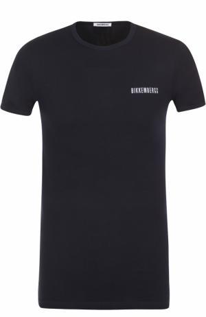 Комплект из двух хлопковых футболок с круглым вырезом Dirk Bikkembergs. Цвет: синий