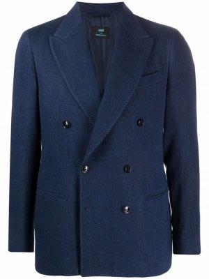 Двубортный пиджак MP Massimo Piombo. Цвет: синий