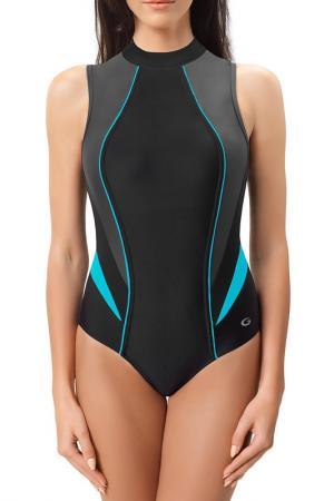 Спортивный купальник GWINNER. Цвет: black, gray