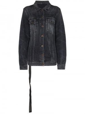 Джинсовая куртка из вареного денима Unravel Project