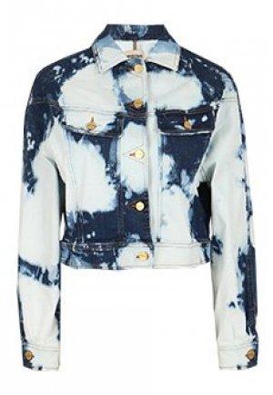 Куртка ROBERTO CAVALLI. Цвет: голубой
