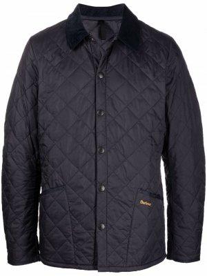 Стеганая куртка Barbour. Цвет: синий