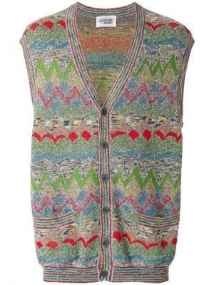 Вязаная жилетка с принтом Missoni Vintage. Цвет: разноцветный