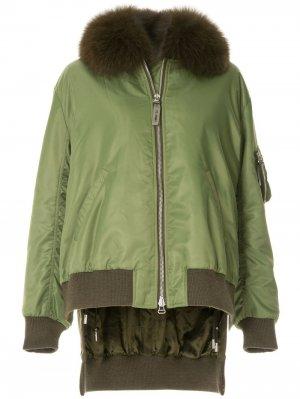 Куртка бомбер с мехом лисы Yves Salomon Army