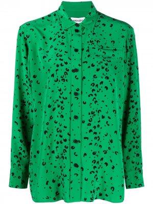 Рубашка с анималистичным принтом Kenzo. Цвет: зеленый