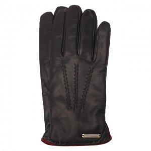 Кожаные перчатки Corneliani. Цвет: синий