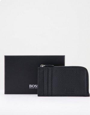 Черный длинный кошелек на молнии BOSS by Hugo