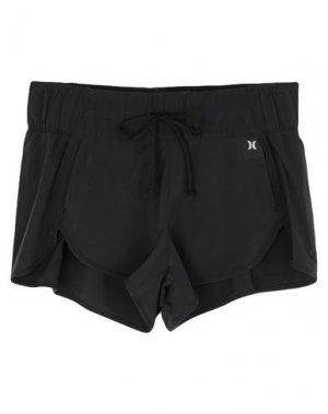 Повседневные шорты HURLEY. Цвет: черный