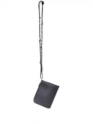 Кошелек Tangle с круговой молнией Jil Sander. Цвет: черный