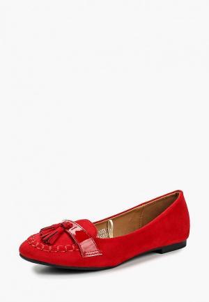 Мокасины Catisa. Цвет: красный