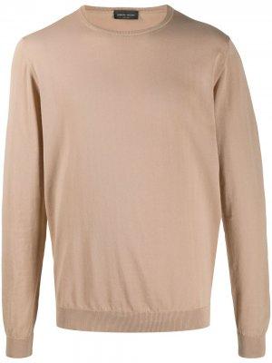 Пуловер с круглым вырезом Roberto Collina. Цвет: нейтральные цвета