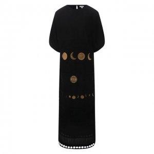 Хлопковое платье x Paulas Ibiza Loewe. Цвет: чёрный