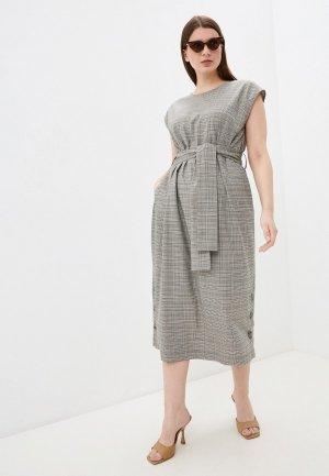Платье Electrastyle. Цвет: бежевый