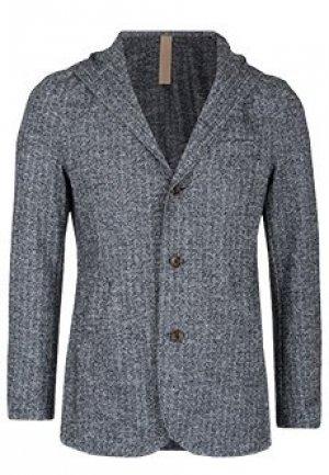 Одноботный пиджак с капюшоном ELEVENTY. Цвет: серый