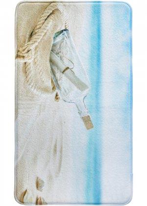 Коврик для ванной Письмо в бутылке, пена-мемори bonprix. Цвет: бежевый