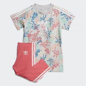 Платье и брюки Originals adidas. Цвет: розовый