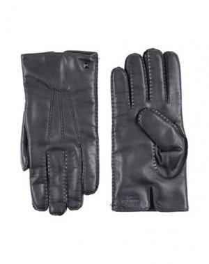 Перчатки VALENTINO GARAVANI. Цвет: стальной серый